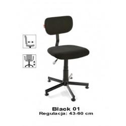 Krzesło przemysłowe do szwalni Black 01